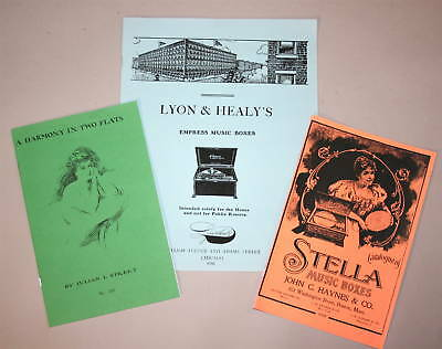 Antique Music Box Regina Stella L & H 3 Catalog Reprint