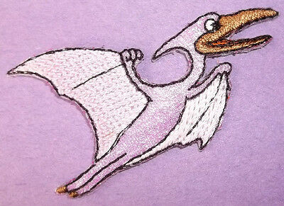 Teradactyl Childrens Flying Shimmering Iron On Patch