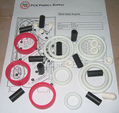 1993 Williams White Water Pinball Rubber Ring Kit - aka Whitewater