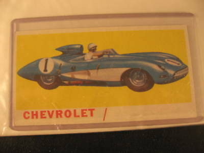 1961 Topps Sports Cars Original PROOF Card Chevrolet