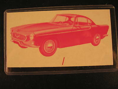 1961 Topps Sports Cars Original PROOF Card Volvo