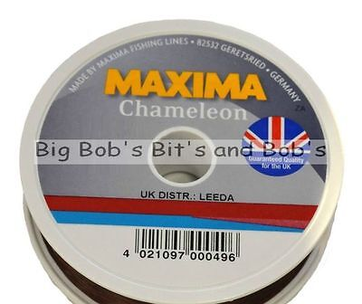 New MAXIMA Chameleon Fishing Line 100m 3 4 5 6 8 10 12 15lb Brown Mono UK