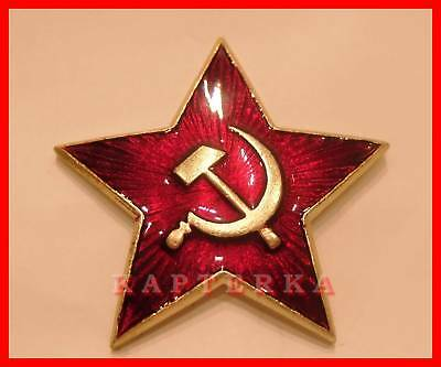 ☆ Original ☭ Russische Rote Sowjet Armee Kokarde ROTER STERN ☆