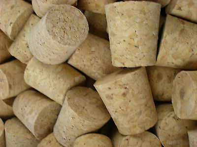 5 x Tapered Cork Bung Stopper Bottle size 15
