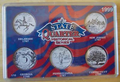 State Quarter Historical Series Case 1999 First 5 Set