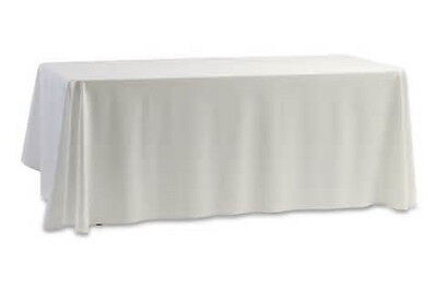 12 restaurant wedding linen table cloths poly 52 x 114