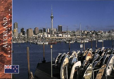 Postcard: Auckland, Skytower, Westhaven, Neuseeland