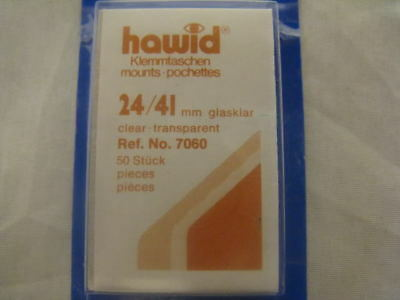 250 (5x50) HAWID 24/41MM STAMP MOUNTS CLEAR -COMMS VERT - SUPPLIES