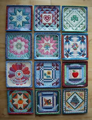 Complete SEASONS OF HOME Quilt Plate Set 12 Bradford Exchange Mary Ann Lasher