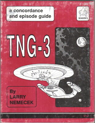 Star Trek TNG-3 Concordance and Episode Guide Trade Book 1991 Larry Nemecek