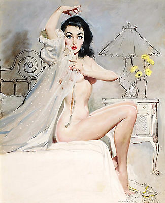 Vintage Retro Burlesque Pin Up Girl Large Poster