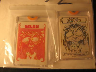 1966 Topps Slob Stickers (2) Proof Hypnotic Helen