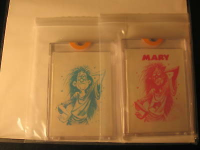 1966 Topps Slob Stickers (2) Proof Mary