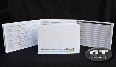 Seat Service History Book & Maintenance Record Log