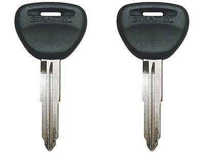 2 Key Blanks Fits MITSUBISHI Mirage 1993-2003 Black Head