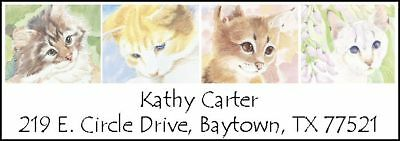 ~FOUR PAINTED CATS~  Return Address Labels!  Pretty!