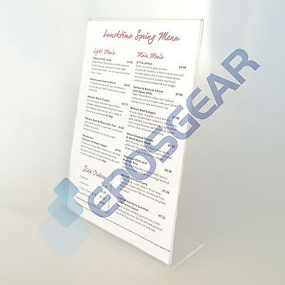 1 A4 Portrait Angled Lean To Counter Perspex Acrylic Leaflet Flyer Display Stand