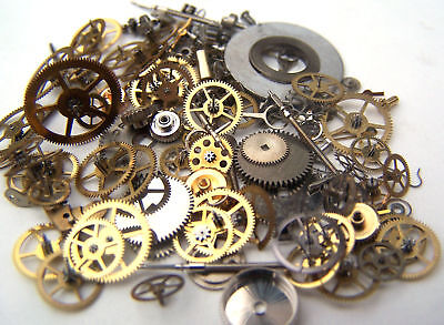 Steampunk Watch Parts 100+ Lot 8g - Gears Altered Art