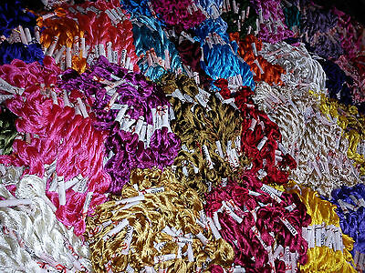 150 Art Silk/Rayon Stranded Skeins Embroidery Thread, 150 Colours