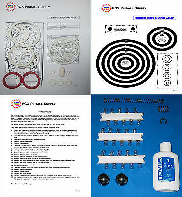 1986 Gottlieb/Premier Genesis Pinball Tune-up Kit - Includes Rubber Ring Kit