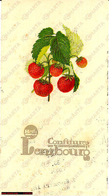 1925 Confitures LENZBOURG HERO vintage menu