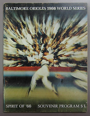 1966 World Series Program Baltimore Orioles vs Los Angeles Dodgers