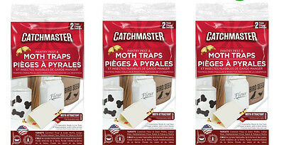 12 Catchmaster Pantry Pest Moth Traps Control Indian Meal / Flour / Raisin Moths