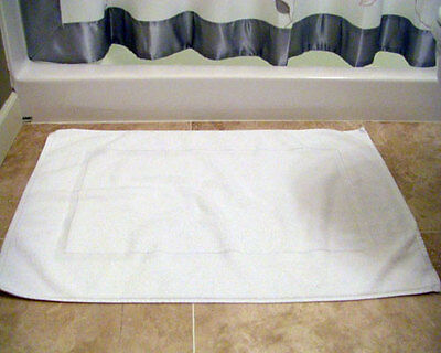 12pc lot of new white cotton hotel bath mats 7#dz 20x30
