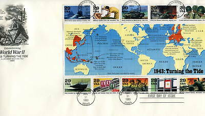 2765 1943: Turning the Tide, ArtCraft, S/S  FDC
