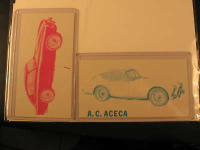 1961 Topps Sports Cars Proof Cards AC Aceca