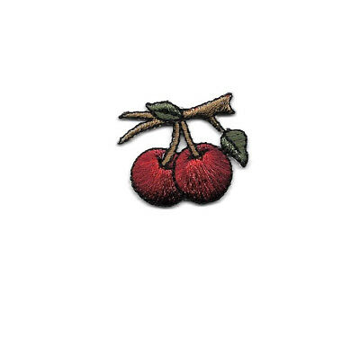 Cherries - Fruit - Garden - Embroidered Iron On Applique Patch
