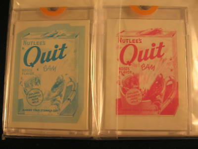 1973 Topps Wacky Packages Series 4 Proofs Nutlee's Quit