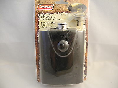(COLIBRI) COLEMAN STAINLESS STEEL  7oz  FLASK    NEW