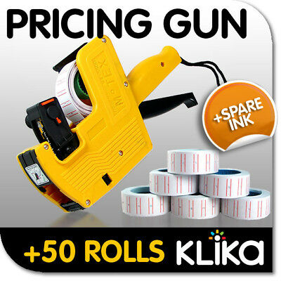 New Pricing Price Tag Tagging Gun Labeler +50 Rolls !