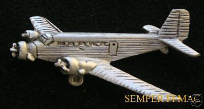 JUNKERS JU 52 TRIMOTOR IRON ANNIE PEWTER PIN GERMANY