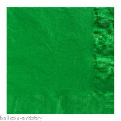 20 FESTIVE GREEN 33cm Paper Napkins Serviettes Birthday Wedding Party Catering