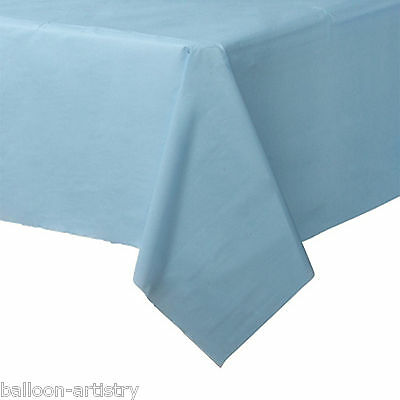 54x108in Baby Blue Plastic Tablecover Table Cover Cloth Wedding Catering