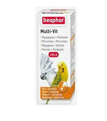 Beaphar 20Ml Bogena Daily Multi Vitamins Additive For Parrots & Parakeets Vit A