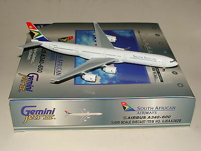GJSAA382B Gemini Jets 1:400 South African Airways A340-600  free shipping