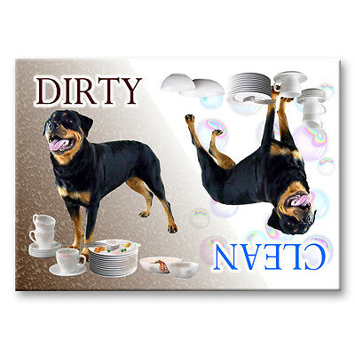 ROTTWEILER Clean / Dirty DISHWASHER MAGNET No 2 DOG