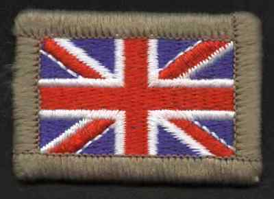 New Small hook & loop backed Union Jack Badge 45mmx35mm