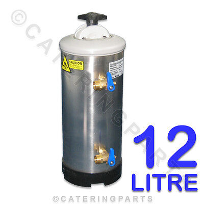"Lt12 Dva 3/4"" Bsp 12L 12 Litre Manual Water Softener 1.5 Kg Salt Regen Inc Resin"