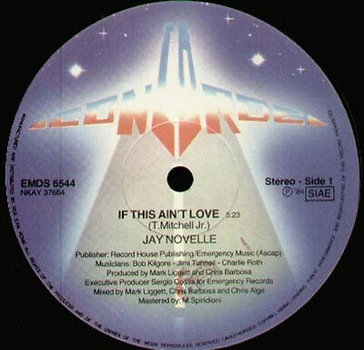 JAY NOVELLE - If This Ain't Love - 1984 Concorde Italy - EMDS 6544