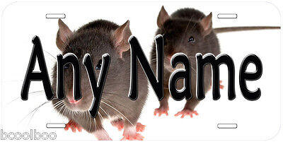 Rats Aluminum Any Name Personalized Auto Tag Car Novelty License Plate