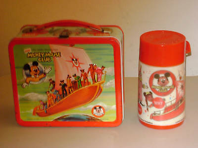MICKEY MOUSE CLUB `77 METAL LUNCH BOX w/THERMOS