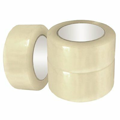 12 Rolls Of Clear Parcel Packing Sticky Tape Packaging Carton Sealing 48Mm X 66M