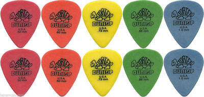 10 X Jim Dunlop Tortex Standard MIXED Guitar Picks NEW Assorted Gauges Free Post