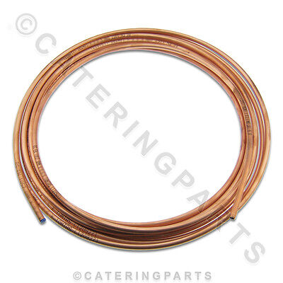 10m x 8mm OD COPPER PIPE / TUBE / TUBING FOR NATURAL NAT LP LPG GAS OR WATER