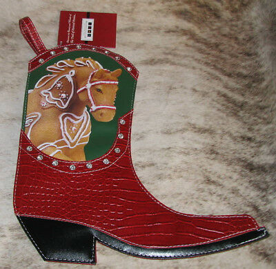 """TRAIL OF PAINTED PONIES Gingerbread CHRISTMAS Boot Stocking 13.5"""" x 11.75"""""""