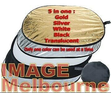 "120cm x 90cm 48x36"" Collapsible 5 in 1 oval reflector"